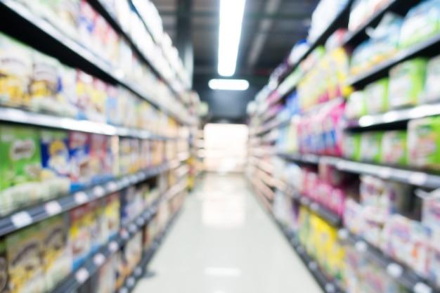 デパートで抽象的なぼかしスーパーマーケット