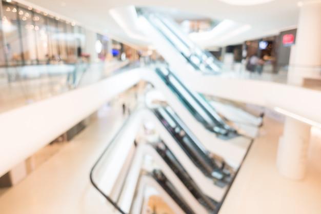 抽象的なぼかしとデフォーカスショッピングモール