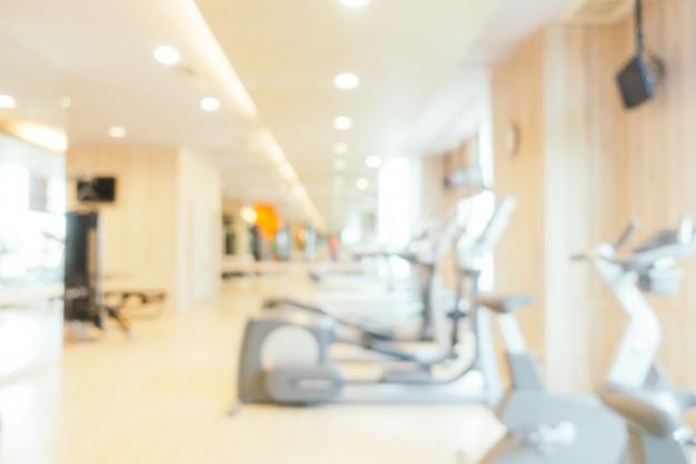 Абстрактный размытия фитнес-оборудование интерьера тренажерного зала
