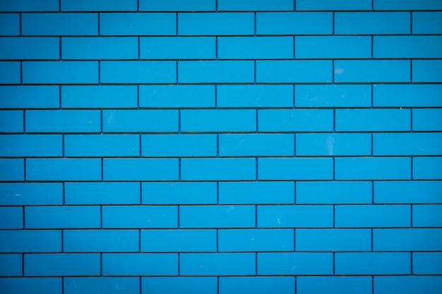 青いレンガの石の壁のテクスチャ
