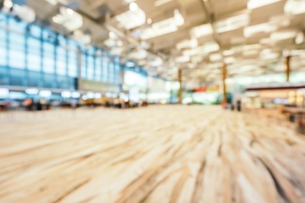 抽象的なぼかしと多重チャンギ空港ターミナルのインテリア
