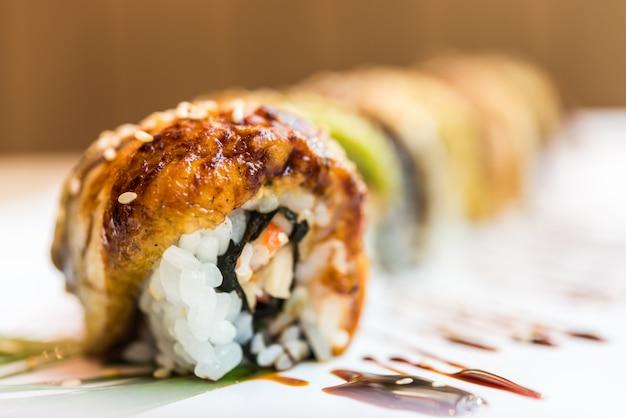 ウナギの寿司ロール