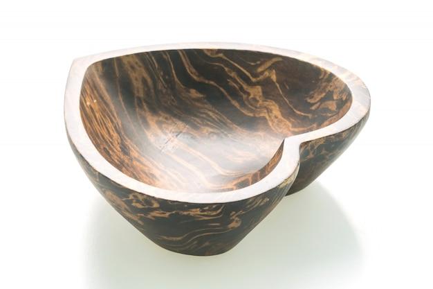 ハート型の木製ボウル