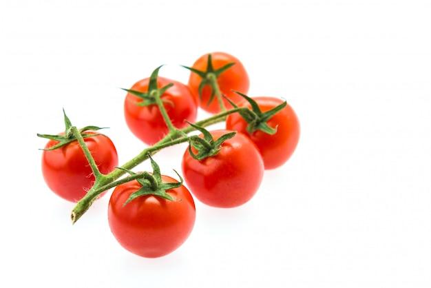 トマト、白で隔離