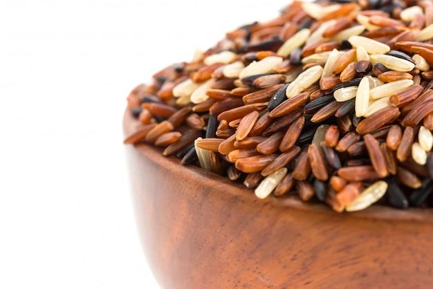 Рис коричневый