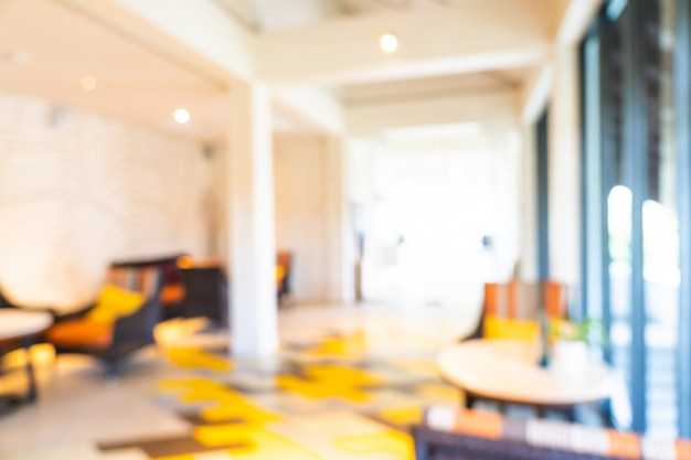 抽象的なぼかしとデフォーカスホテルロビーのインテリア