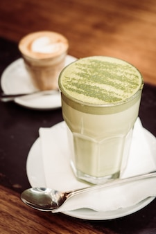 ホットマッチョ緑茶ラテカップ