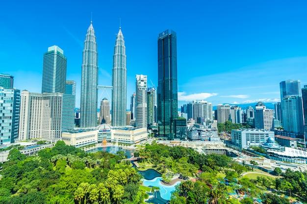 マレーシアのクアラルンプール市の美しい建築建物外観