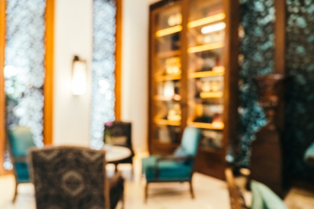 抽象的なぼかしと多重ホテルロビーインテリア、ぼやけた写真の背景