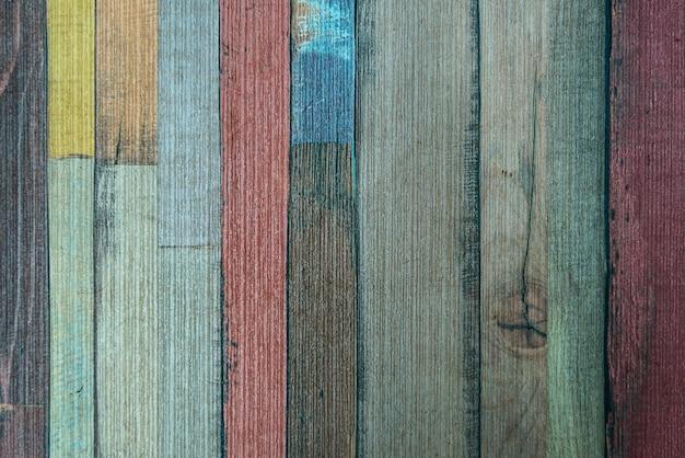 ヴィンテージのカラフルな古い木製の壁の背景テクスチャ