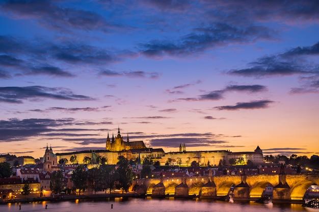 カレル橋、聖ヴィート大聖堂城、聖ニコラスの眺め