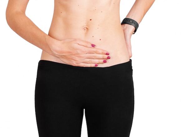 妊娠中の女性の手の腹の女性健康概念