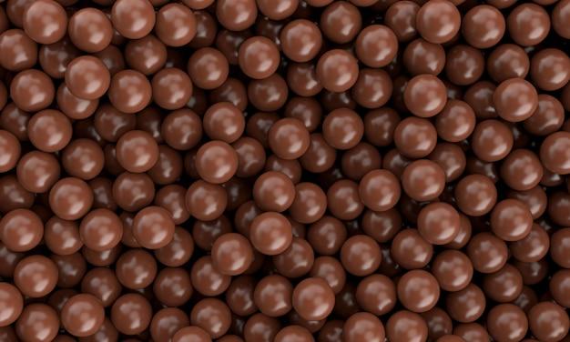 現実的な甘いおいしいチョコレートミルク球球滑らか