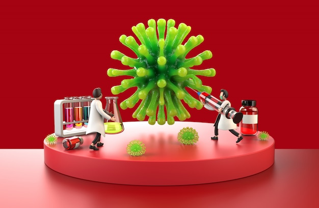 コロナウイルスと戦う医師アジア