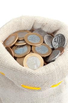 Монеты в сумке