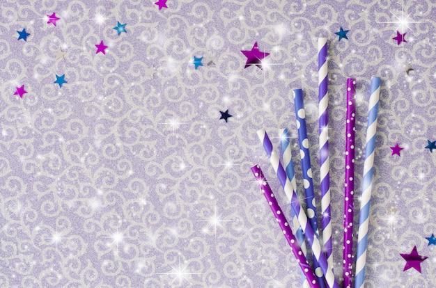 Экологически чистые бумажные соломинки со звездами
