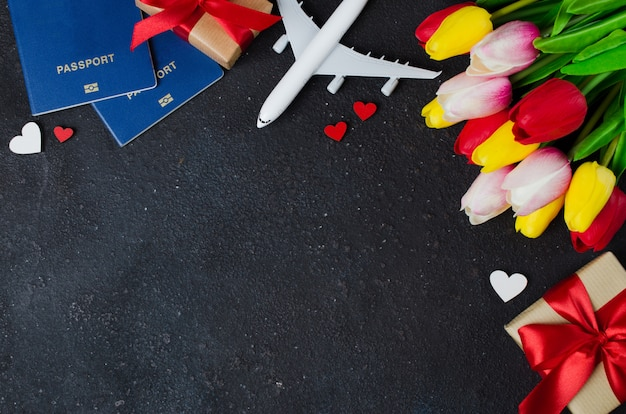 Планирование отдыха. открытка на день святого валентина или женский день.