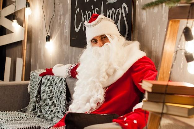 お祝い、クリスマス、新年、冬の時間、休日、単独で、サンタクロース
