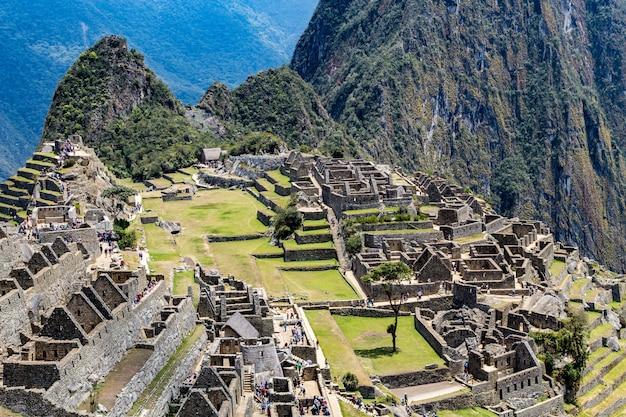 Мачу-пикчу, куско, перу, южная америка. объект всемирного наследия юнеско