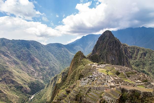 マチュピチュ、クスコ、ペルー、南アメリカ。ユネスコの世界遺産