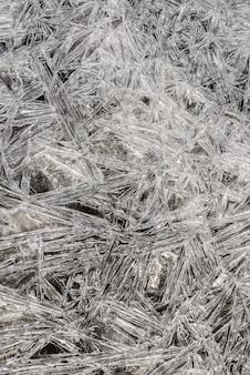 アイスの質感氷の切片、気泡、凍った水の中の酸素。