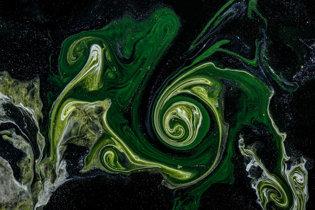 Абстракция живописи в технике жидкости.