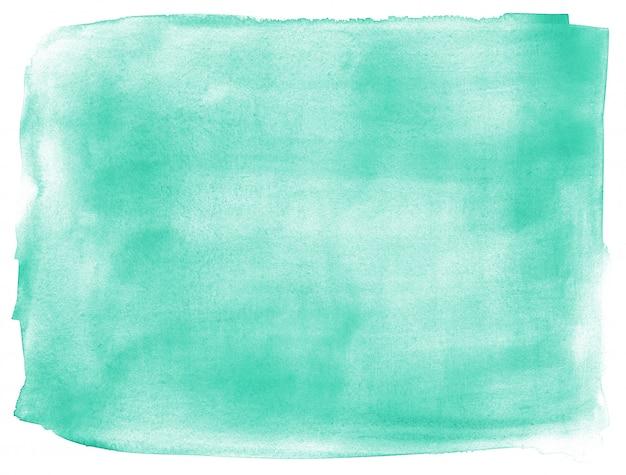 ターコイズブルーの手描きの抽象的な背景