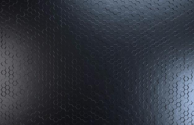 黒い色の六角形のトップビューの背景