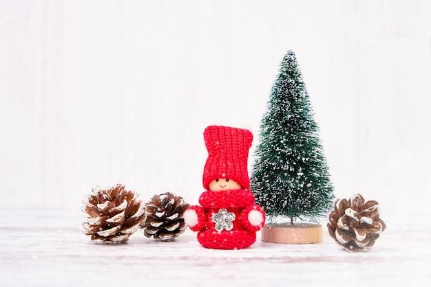 クリスマスの背景。クリスマスの飾り。コピースペース