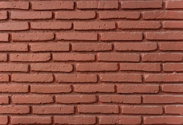 テクスチャ背景の赤レンガの壁の詳細。
