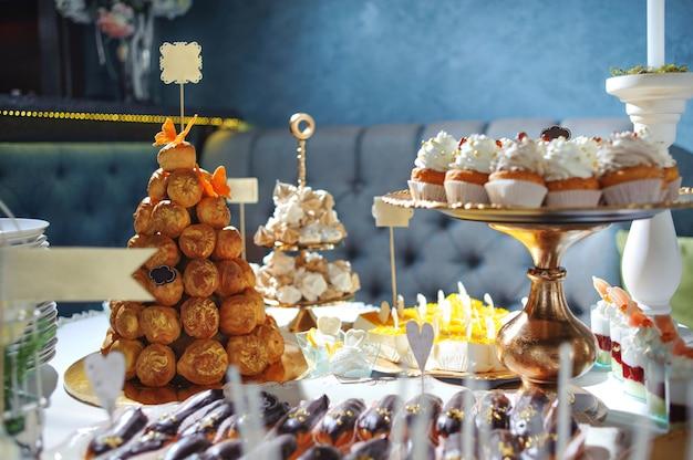 お菓子を使ったドレッシングテーブル