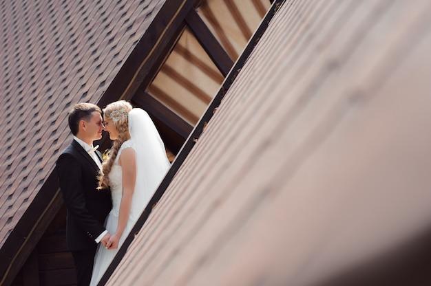 結婚式のカップルのショット