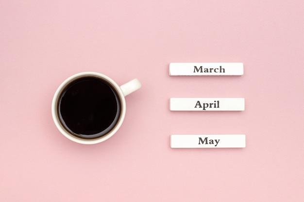 木製カレンダー春
