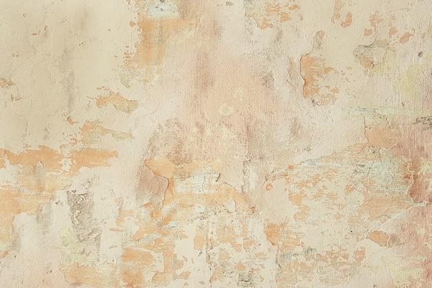 石膏から落ちると古い壁のヴィンテージの古い表面