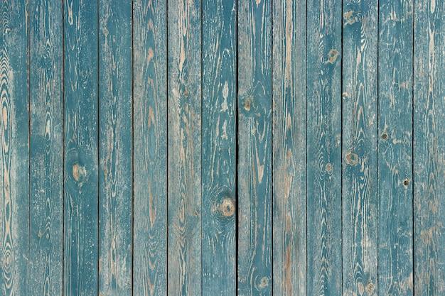 青い塗られた木の板、背景、テクスチャ