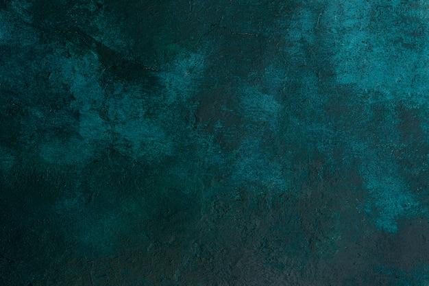 テクスチャ古い石造りのコンクリート壁ダークグリーン色の亀裂、背景