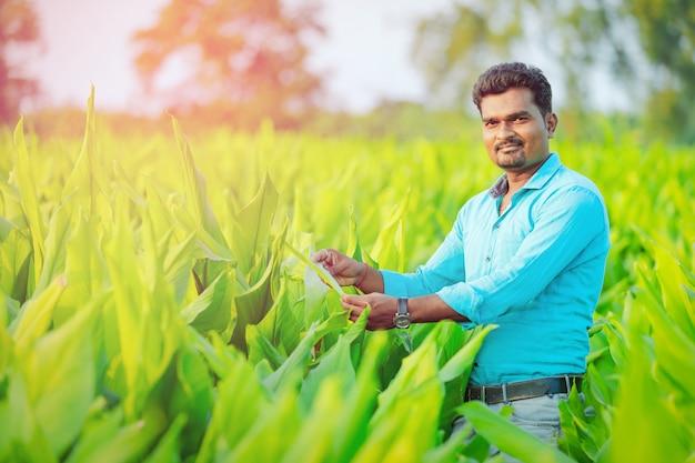 Индийский фермер на поле
