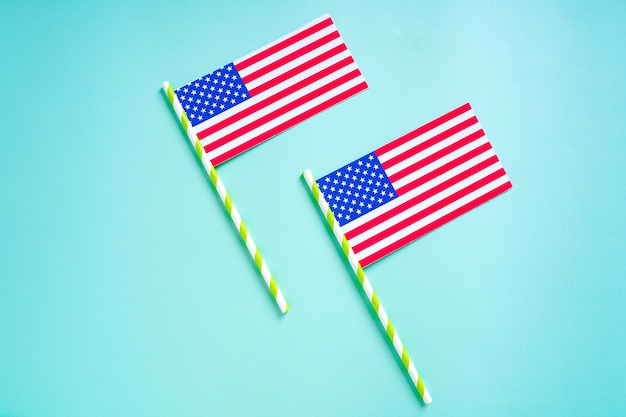 幸せな大統領の日、アメリカの米国旗