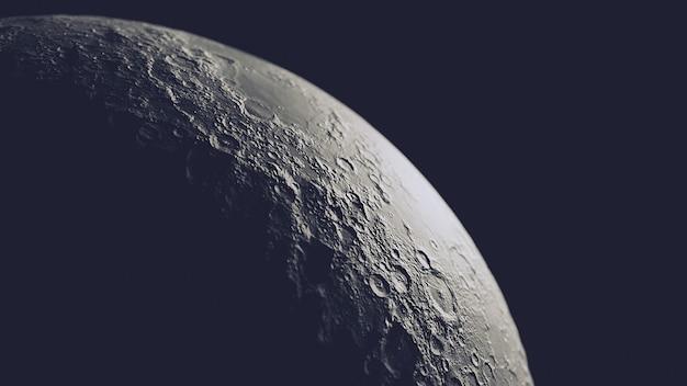 Реалистичная луна в космосе, изолированных на черном
