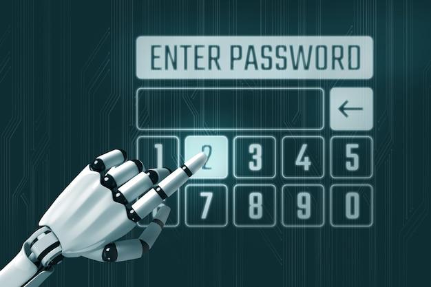 ロボットとパスワードの概念を入力してください