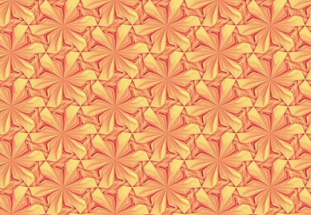 オレンジと黄色のシームレスパターン