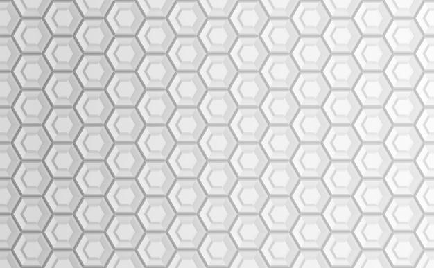 六角形グリッドに基づく抽象的な幾何学的な白い背景
