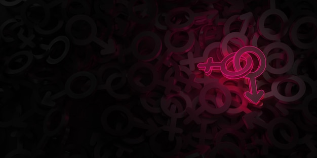 女性と男性のシンボル