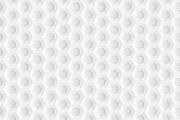 六角形と六角形のグリッドに基づく円のシームレスパターン