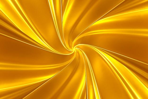 鮮やかなストライプのスクロールサラウンドから抽象的な黄金背景