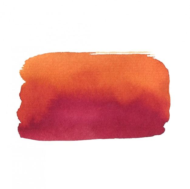 夏の水彩画の背景。抽象的なテクスチャが白で隔離。ピンクとオレンジ色の印刷可能な水彩画の背景。