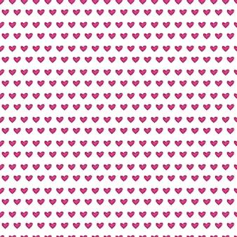 Симпатичные бесшовные модели с текстурой окрашенные сердца.