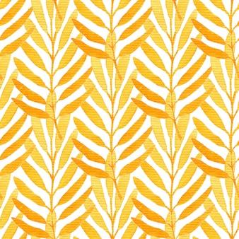 水彩のオレンジ色のシームレスパターン。