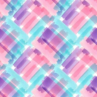 カラフルなテクスチャと水彩のシームレスパターン。モダンデザイン