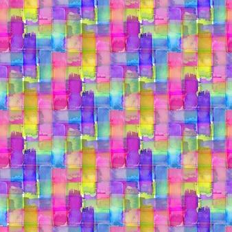 カラフルなテクスチャと水彩のシームレスパターン。現代のテキスタイルデザイン